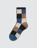 Tabio Colorful Material Mix Blocks Socks 사진