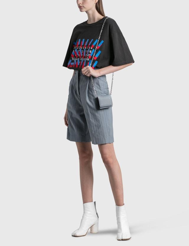 Maison Margiela Tape Print Oversized T-shirt Washed Black Women