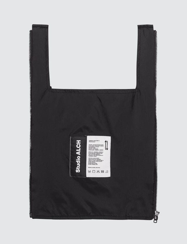 ALCH Zip Off Reusable Bag Shirt Black Women