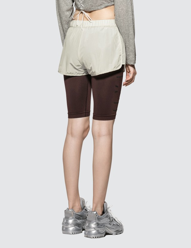 Unravel Project Lace-up Shorts Light Grey Women