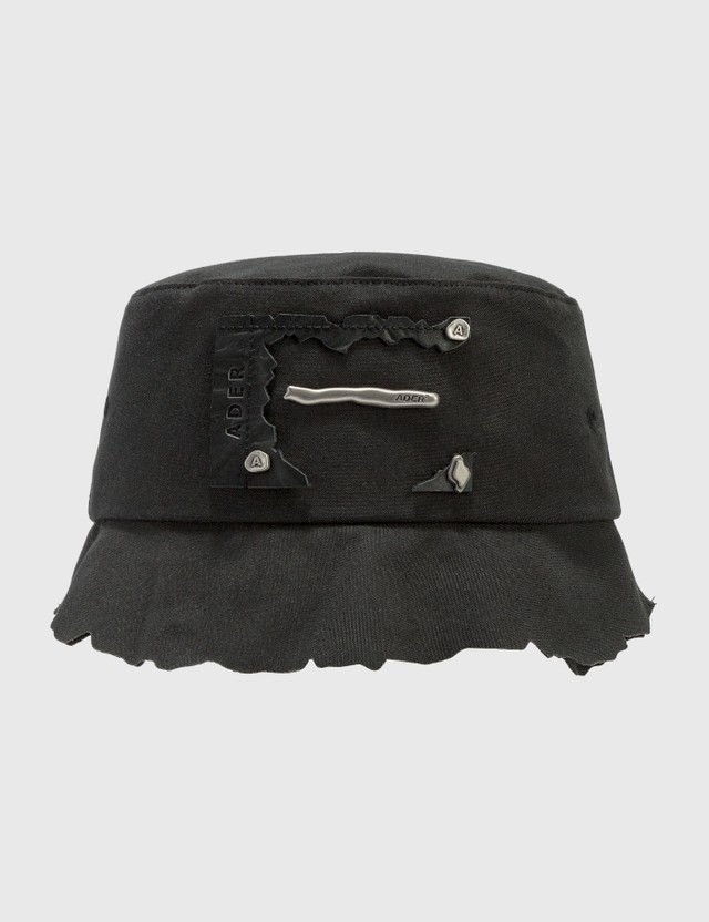 Ader Error Torn Label Bucket Hat Black Men