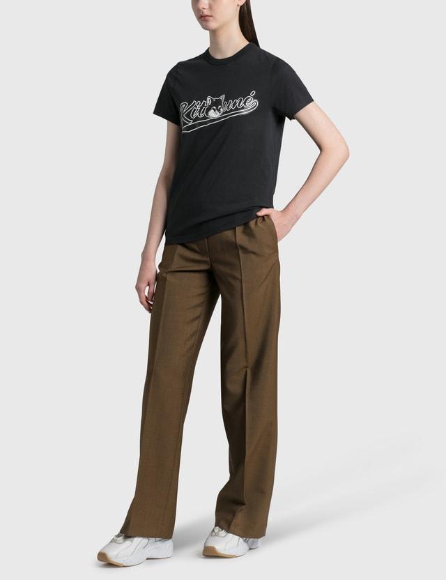 Maison Kitsune Varsity Fox Classic T-shirt Black Bk Women