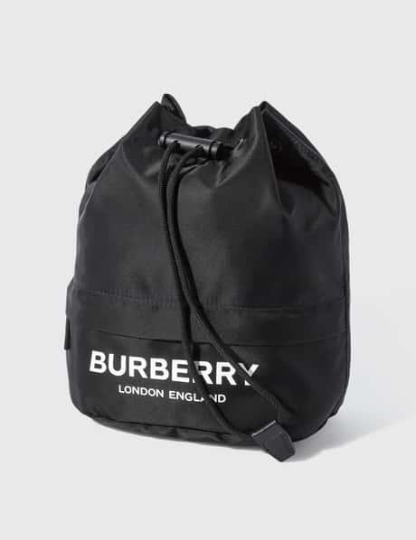 버버리 Burberry Logo Print ECONYLu00ae Drawcord Pouch