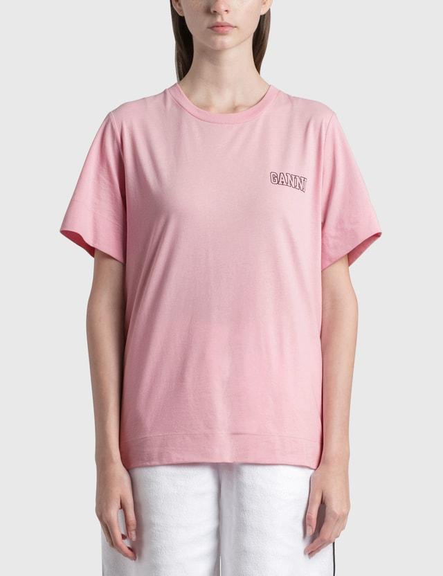 Ganni Thin Software Jersey T-Shirt Sweet Lilac Women