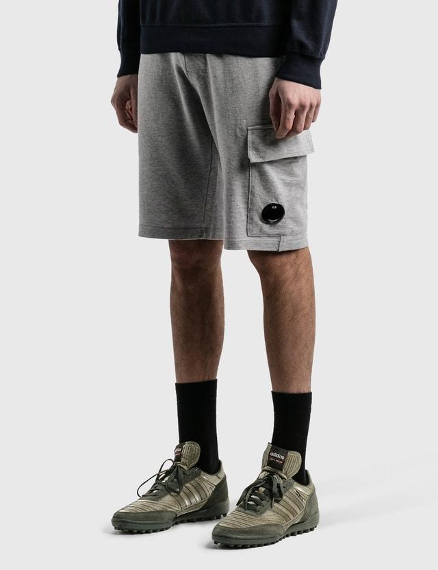 CP Company Lens Pocket Sweat Shorts Grey Melange Men