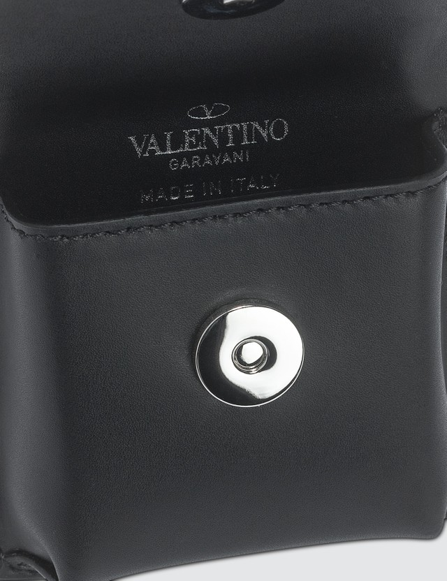 Valentino Valentino Garavani VLTN Earphone Case Black Men