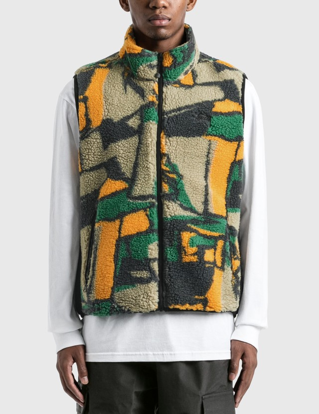 Stussy Block Sherpa Vest Multi Men
