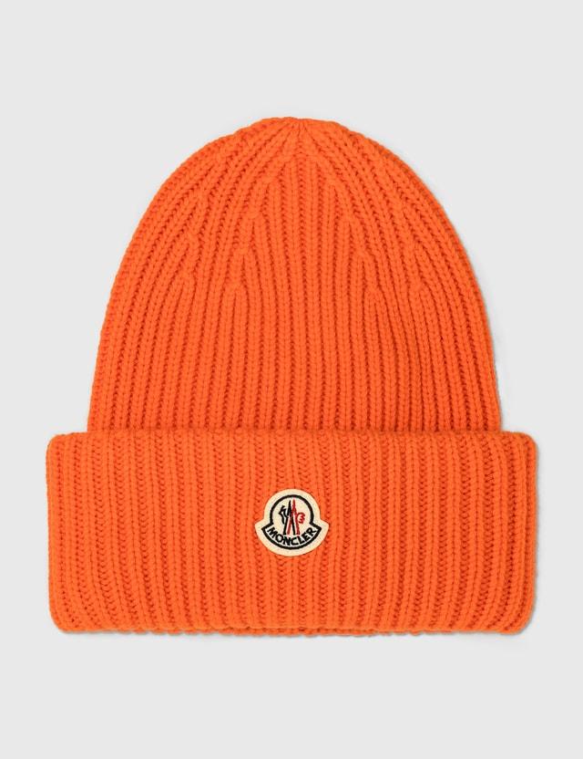 Moncler 몽클레어 로고 비니 Orange Men