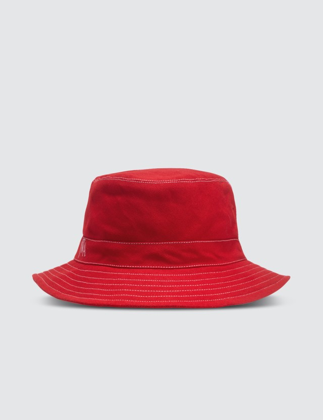 JW Anderson Red & Pink Color-blocked Bucket Hat