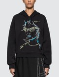 Off-White Illustrated Graphic Print Cropped Hoodie Picture