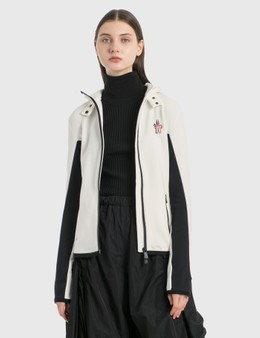Moncler Zip Fitted Fleece Jacket
