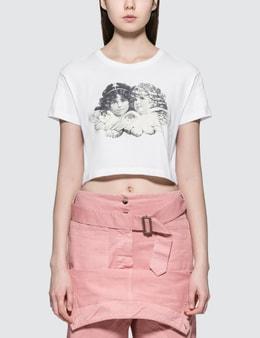 Fiorucci Tavi Angels Cropped Short Sleeve T-shirt