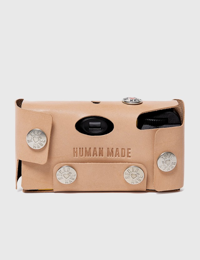 Human Made Leather Camera Case #K Beige Men