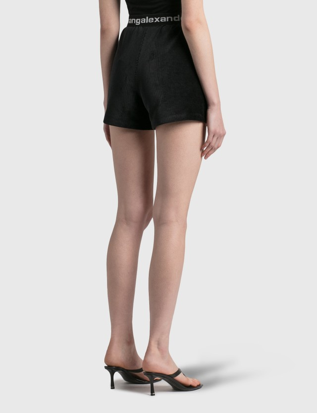 Alexander Wang.T Stretch Corduroy Shorts Black Women
