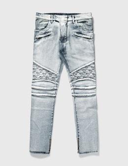 Balmain Balmain Washed Biker Jeans