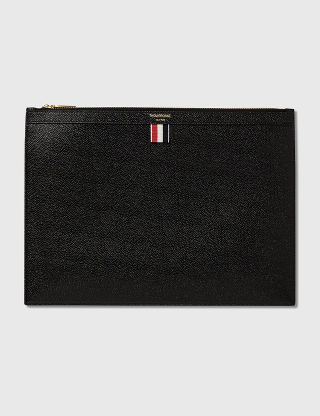 Thom Browne Medium Zipper Document Holder Black Men