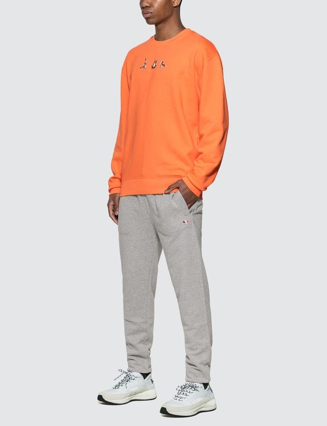 Maison Kitsune Yoga Fox Patches Sweatshirt