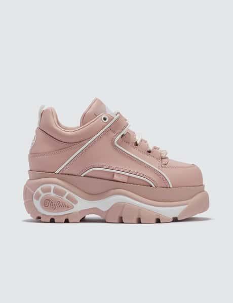 761e014e36 Buffalo London · Buffalo Classic Baby Pink Low-top Platform Sneakers