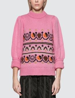 Ganni Jacquard Knit Pullover