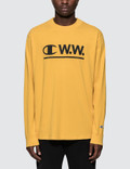 Champion Reverse Weave Wood Wood x Champion Logo L/S T-Shirt Picture