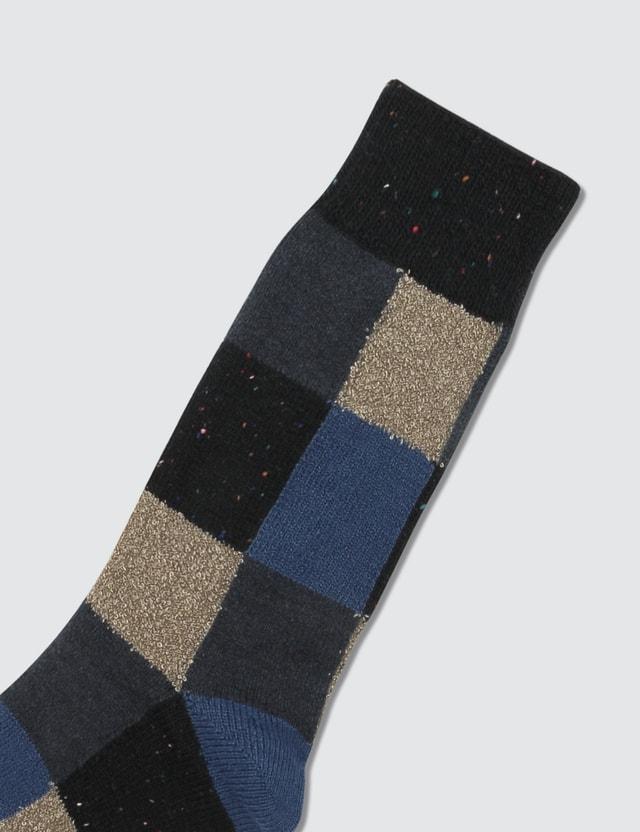 Tabio Colorful Material Mix Blocks Socks