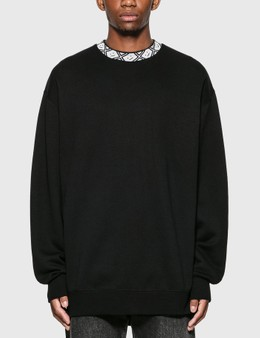 Acne Studios Face Motif Mock Neck Sweatshirt