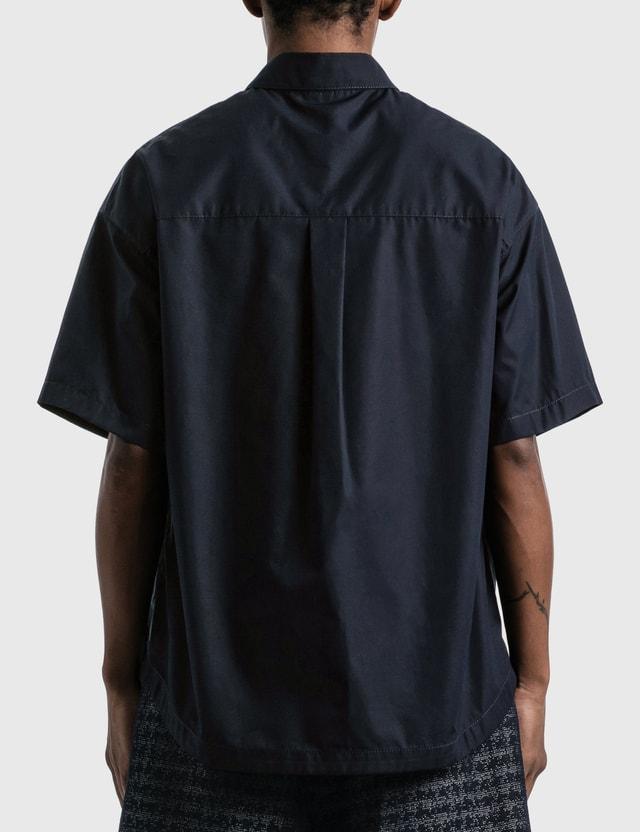 Emporio Armani Organic Cotton Shirt Blu Navy Men