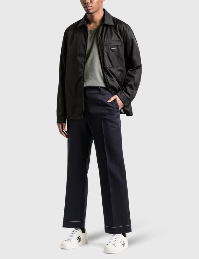 Prada Re-Nylon Zip Up Jacket Black Men