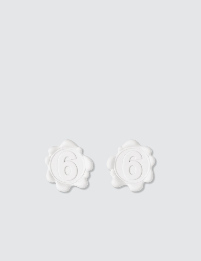 MM6 Maison Margiela 6 Logo Earrings