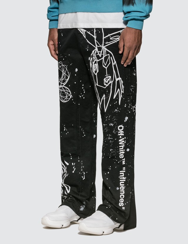 Off-White Futura Alien Carpenter Pants