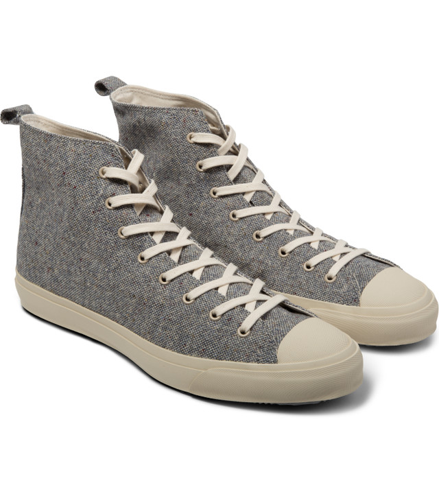 a567e71329 The Hill-Side - Grey Tan Donegal Tweed High Top Sneakers