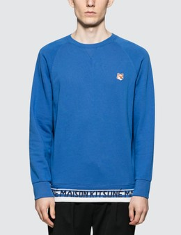 Maison Kitsune Fox Head Patch Jacquard Sweatshirt
