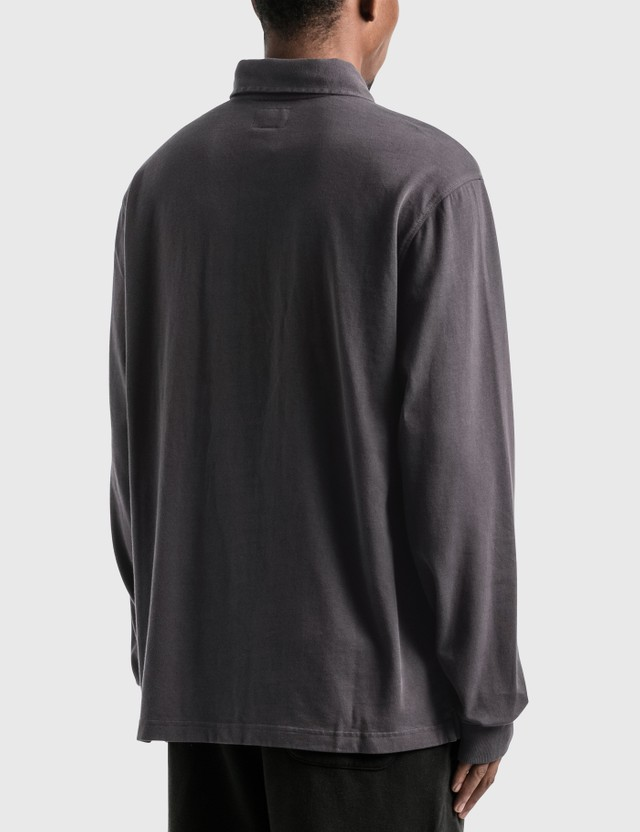 Stussy Bold Stripe Long Sleeve Rugby Charcoal Men