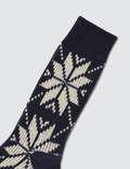 Tabio Mens Wool Mixed Snow Pattern Socks