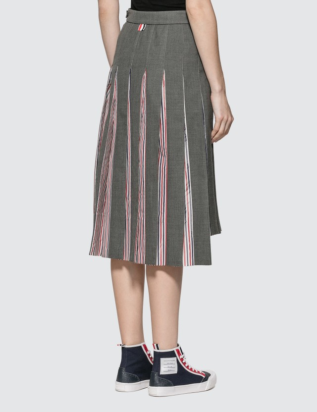 Thom Browne Super 120S Combo Pleat Skirt
