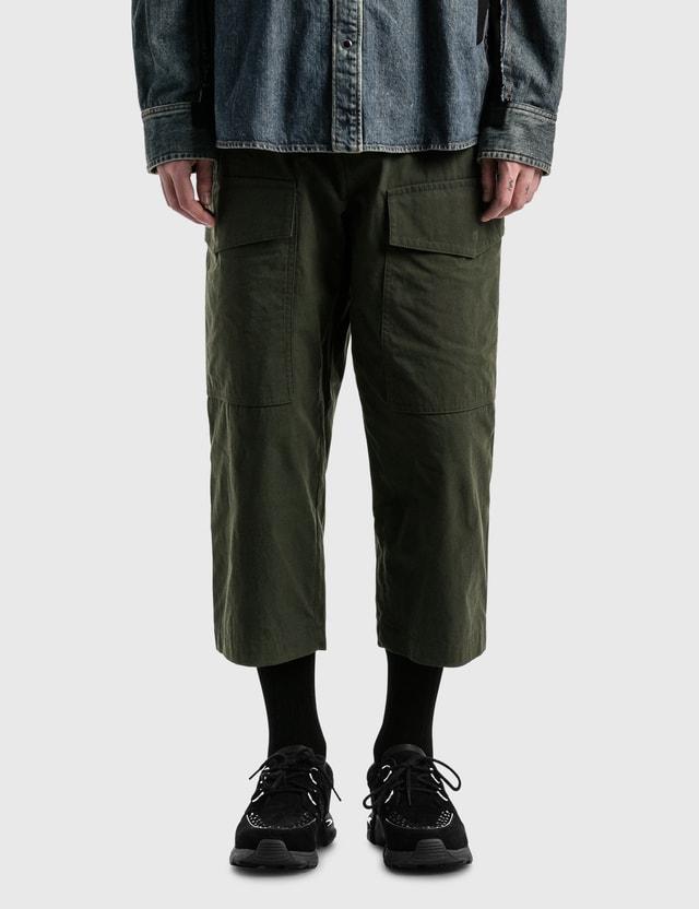 Sacai Cotton Oxford Pants D.khaki Men