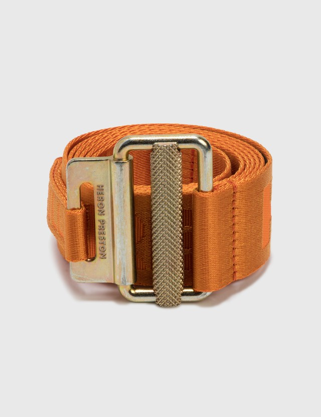 Heron Preston Classic Buckle Tape Belt Orange Men