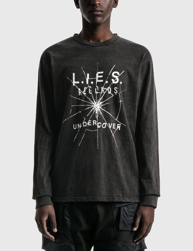 Undercover L.I.E.S Records Long Sleeve T-shirt Charcoal Men