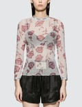 Aries Rose Tulle Long Sleeve Top Picture