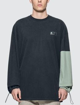 Maison Kitsune Colorblock Oversized Long Sleeve T-Shirt