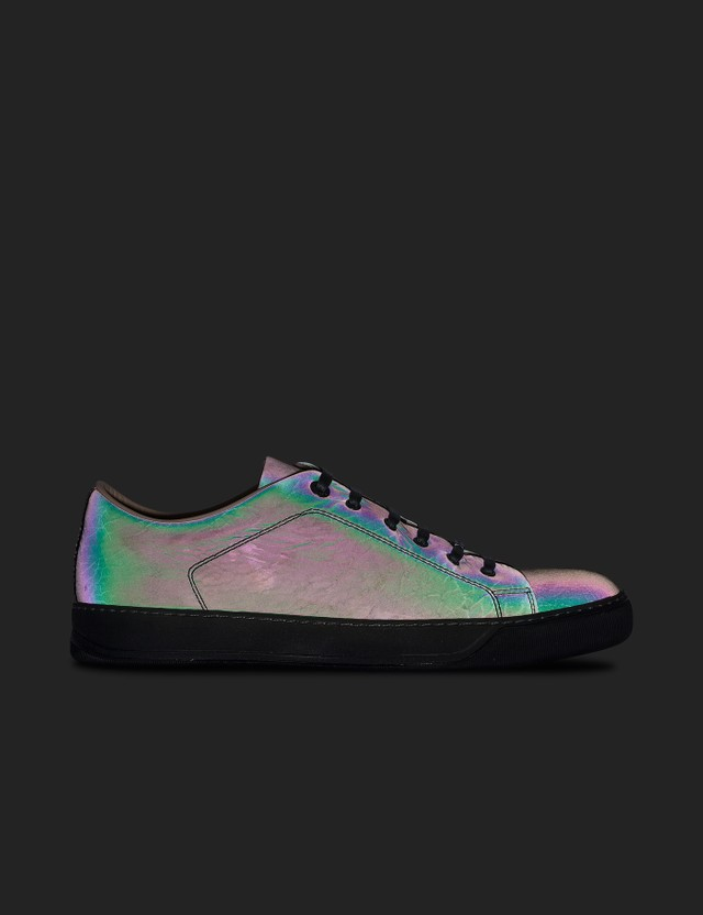 Lanvin Low Top Sneaker Matt Reflective Calf