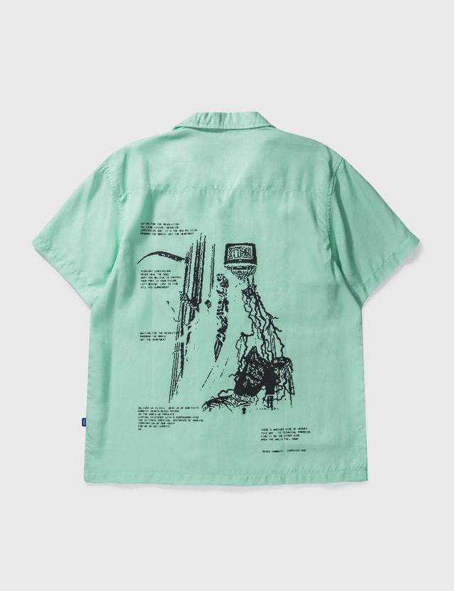 DEVÁ STATES Scythe Souvenir Shirt Opal Blue Men