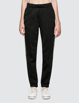 Alexander Wang.T Sleek French Terry Pull-On Track Pant with Logo Tape