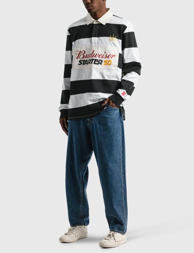 Starter Budweiser x Starter Varsity Stripe Rugby Shirt Black Men