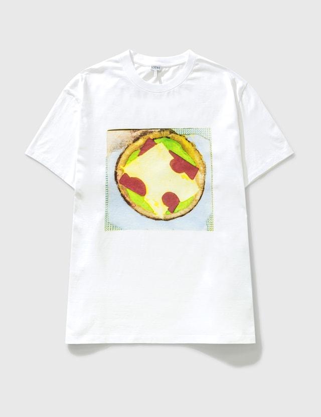 Loewe Pizza Print T-shirt White Men
