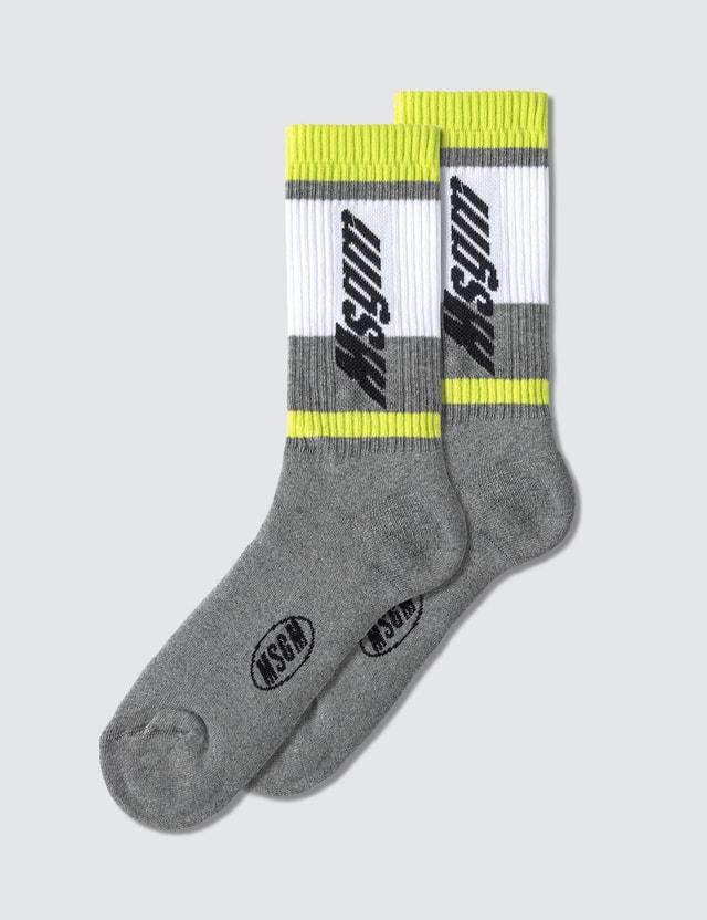 MSGM Color Block Socks