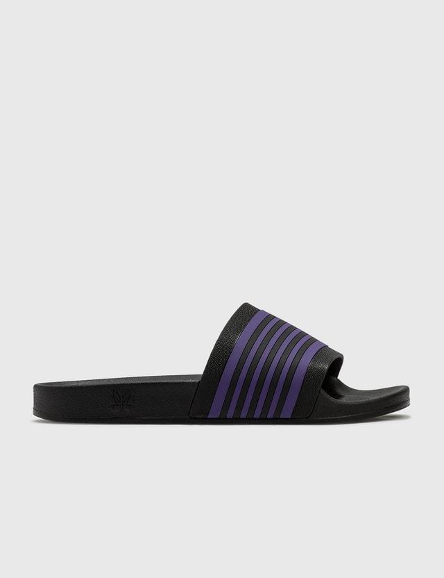 Needles Track Line Shower Sandals Blk/ppl Men