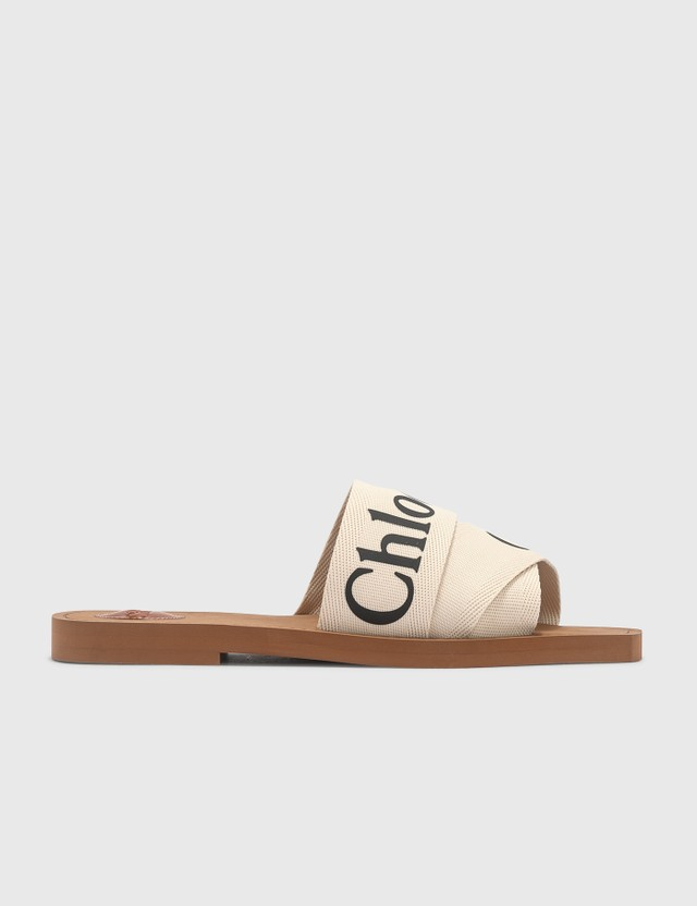 Chloé Woody Flat Mule White Women