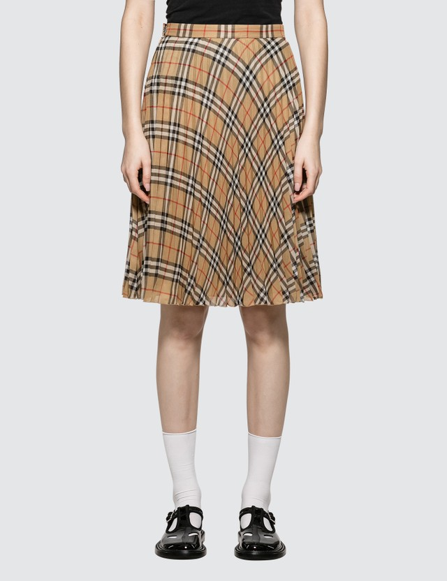 5d07e31f79 Burberry - Burberry Vintage Check Pleated Skirt | HBX