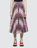 MSGM Striped Resort Printed Chiffon Skirt Picture